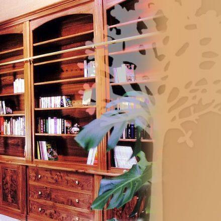 Bibliothèque en loupe d'Orme