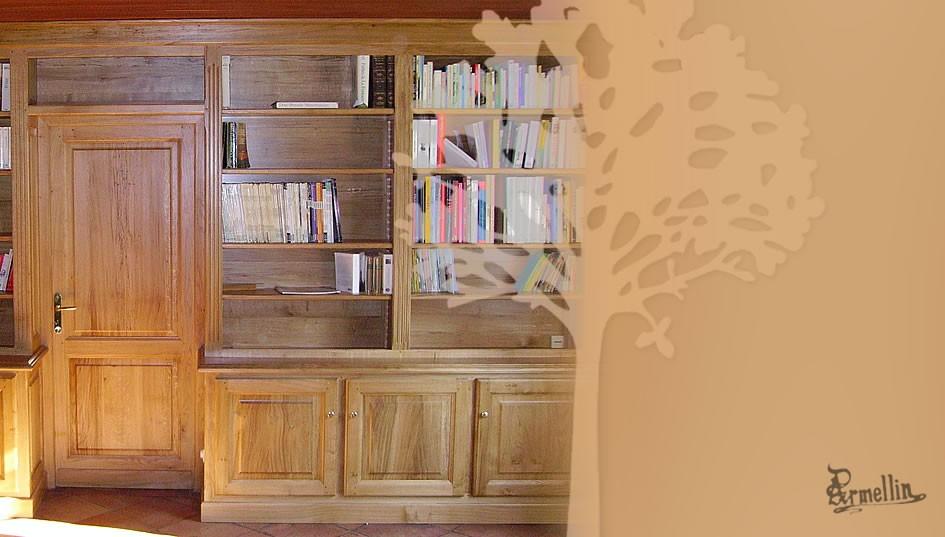 biblioth que en ch ne b nisterie armellin. Black Bedroom Furniture Sets. Home Design Ideas
