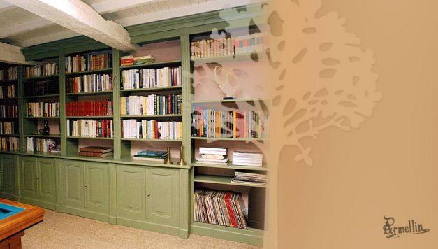 Bibliothèque en Tremble laqué