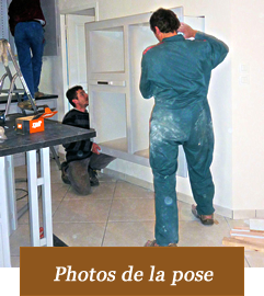Détail de la pose en photos