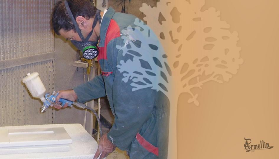 L'atelier de finition - Application au pistolet à peinture
