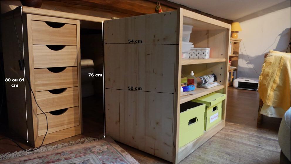 meuble combles latest meuble pour combles les meubles en carton atelier valcartonne sous comble. Black Bedroom Furniture Sets. Home Design Ideas