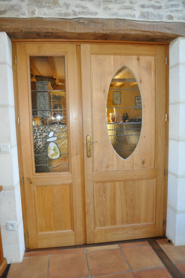 Portes vitrées en Chêne
