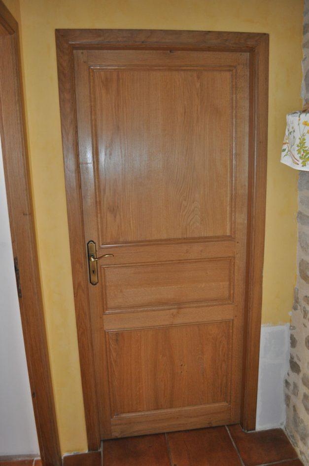 Porte 3 panneaux en Chêne