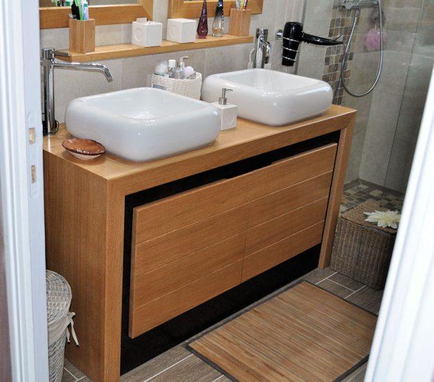 Salle de bains en bois - Meuble en Chêne