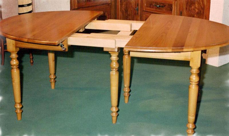 les tables à rallonges - ebénisterie armellin en gironde