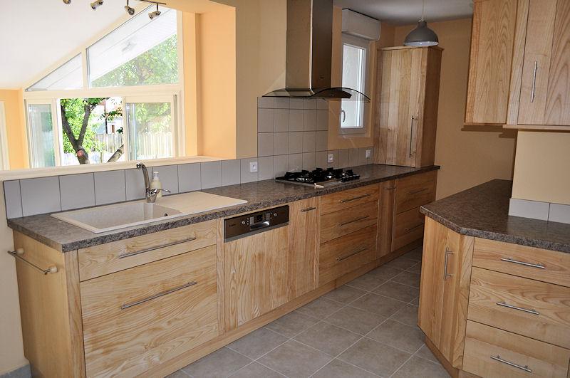 Cuisine fr ne massif fabrication meuble en bois gironde 33 meubles eb nisterie armellin - Cuisine meuble bois ...